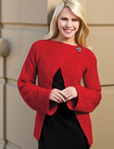 Ravishing in Red Wrap Cardigan
