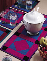 Square-in-a-Diamond Place Mats and Runner