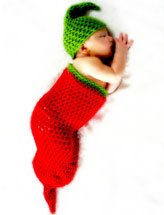 Chili Pepper Cocoon and Hat Set