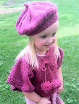Tesslyn Knit Capelet and Beret
