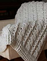 Chunky Cables Decorative Throw