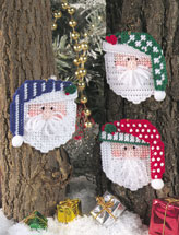 Santa Faces Ornaments