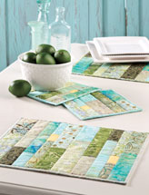 Green Tea Place Mats & Hot Pads