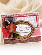 Pretty Poinsettia Card & Scarf Slide