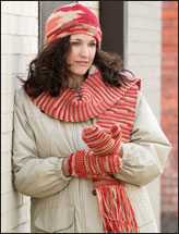 Women's & Men's Knit-Look Hat, Scarf & Mittens