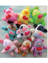 Nine Spring Felt Animal Softies