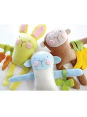 Bunny, Sheep & Monkey Felt Softies