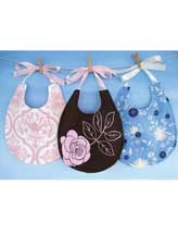 Pretty Pieced or Plain Bib With Ribbon Ties