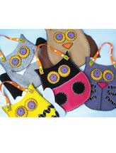 Felt Pouches - Owl, Bat, Cat, Bee & Ladybug