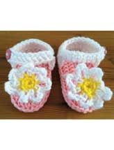 Crocheted Flower Sandals