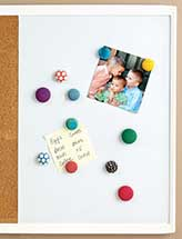 Fabric-Covered Button Magnets