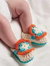 Granny Square Baby Slippers