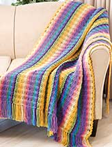 Chain Stripes Afghan