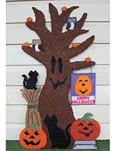 Happy Halloween Tree Door Hanger