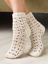 Picot Shell Socks