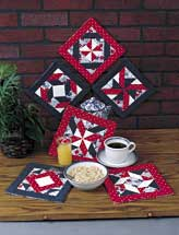 Six Pinwheel Pot Holders