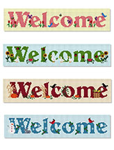 Four Seasons Welcome Signs