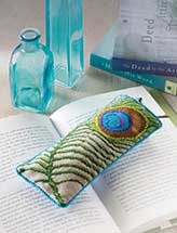Peacock Feather Eyeglasses Case