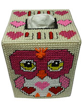 Hoo Loves You Plastic Canvas Boutique Tissue Cover