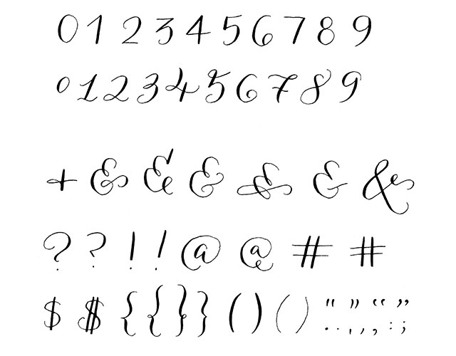 Calligraphy Numbers Examples Related Keywords ...