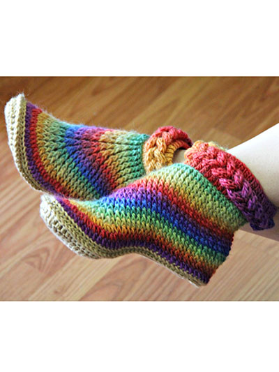 Knit-Look Braid Stitch Boots - Adult