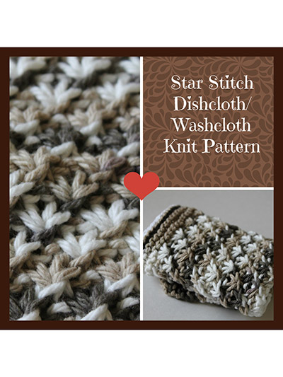 Star Stitch Dishcloth