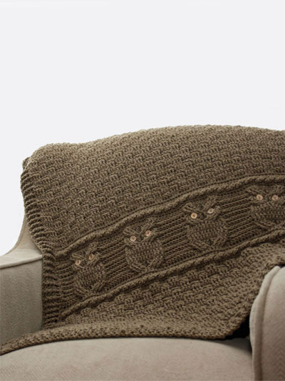 Night Owl Decorative Throw