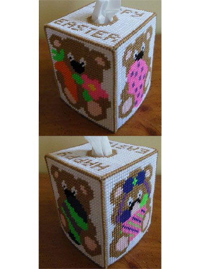 Easter Teddy Tissue Box Cover
