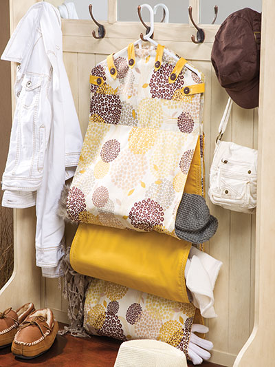 Mudroom Hanging Pockets Organizer