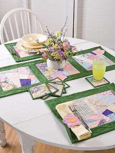 Quilting kitchen patterns place mat patterns garden for Kitchen quilting ideas
