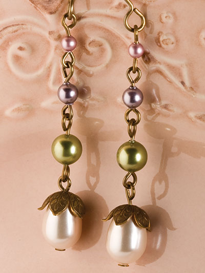 Brass Petal Drop Earrings