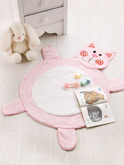 Cute Kitty Baby Mat