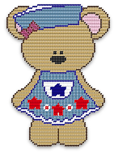 Janie Bear With Stars Wall Hanging