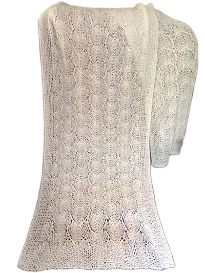 Oyster Shells Knitted Stole