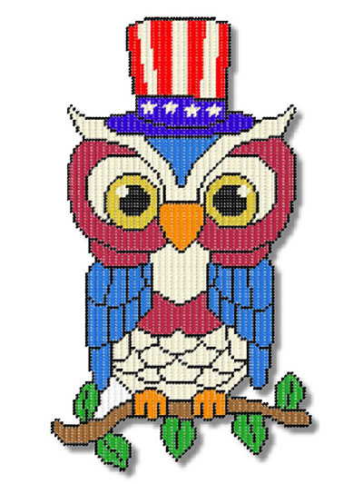 Big Patriotic Owl