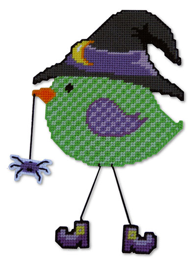 Witchy Bird Door Dangler
