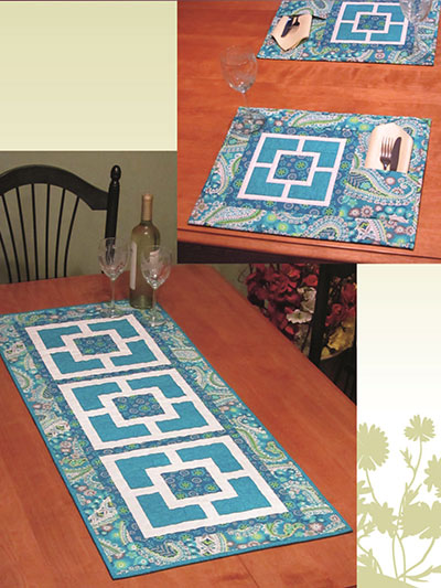 City Squares Runner & Place Mats
