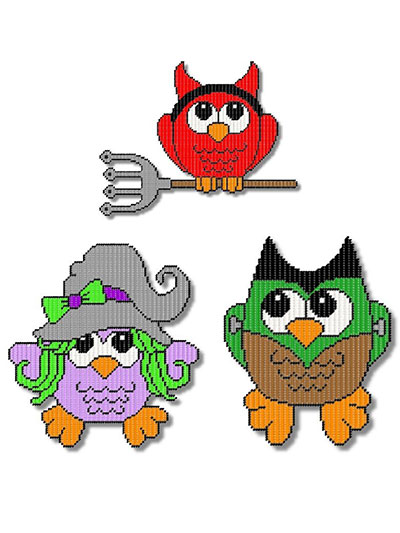 Happy Owl-oween Trio