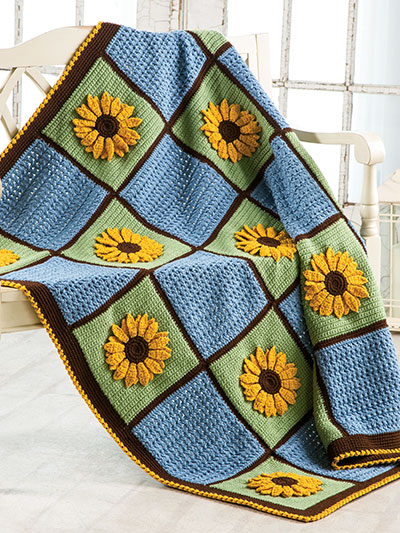 Golden Sunflowers Afghan