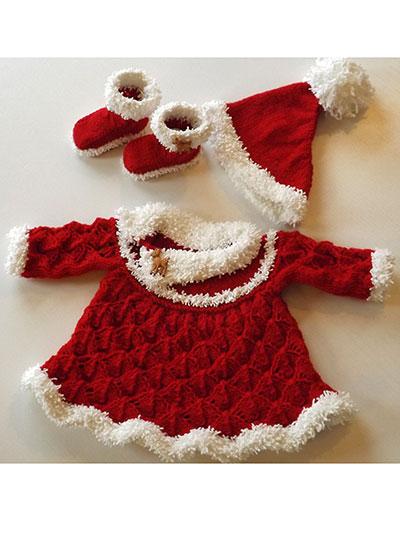 Knitting Pattern Central Christmas : Santa Baby Set