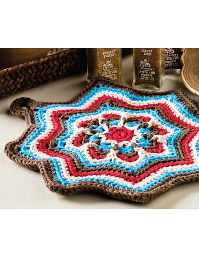 Mandala Star Pot Holder