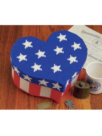Patriotic Heart Bandbox