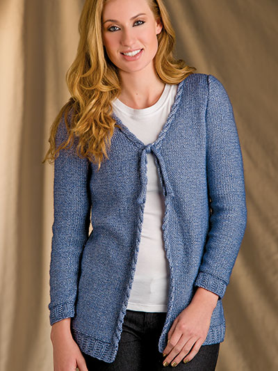 Classically Cabled Cardigan