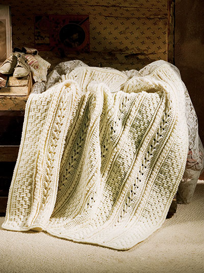 Heirloom Aran Baby Afghan Pattern