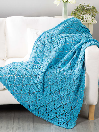 Textured Diamond Throw