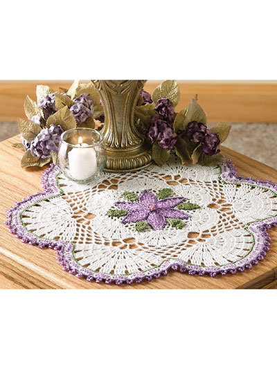Passionflower Beaded Doily