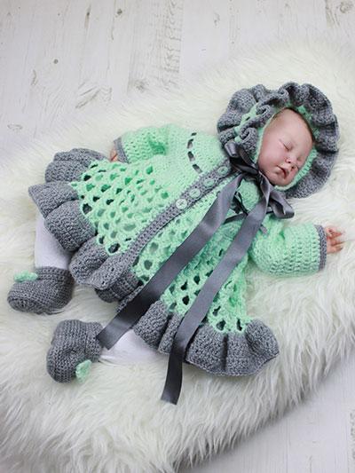 Holiday baby cardigan