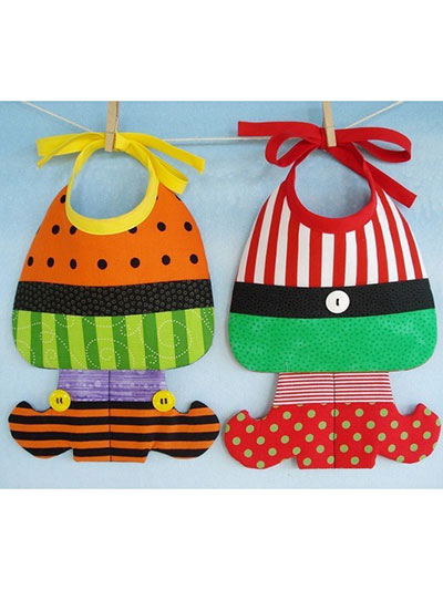Witch & Elf Baby Bibs