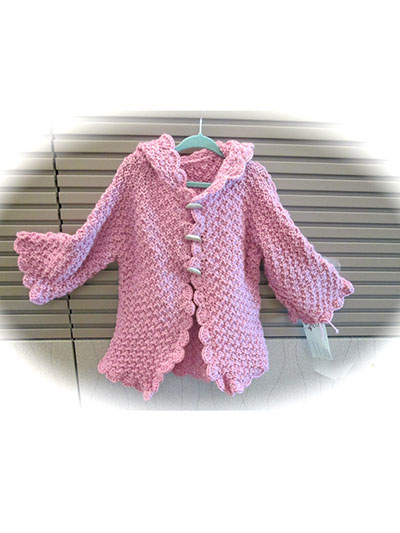 Knitting Pattern Child s Hooded Jacket : Knitting - Baby & Children Patterns - Hat & Jacket ...
