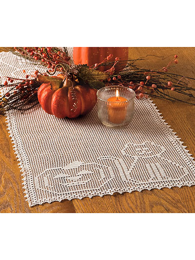 Happy Cat & Pumpkin Table Runner